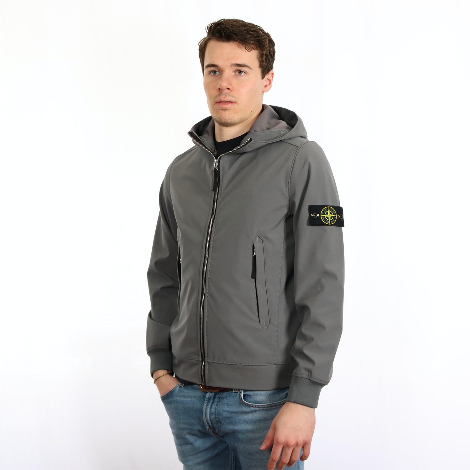 Stone Island Light Soft Shell R grijs Van Lange Mode