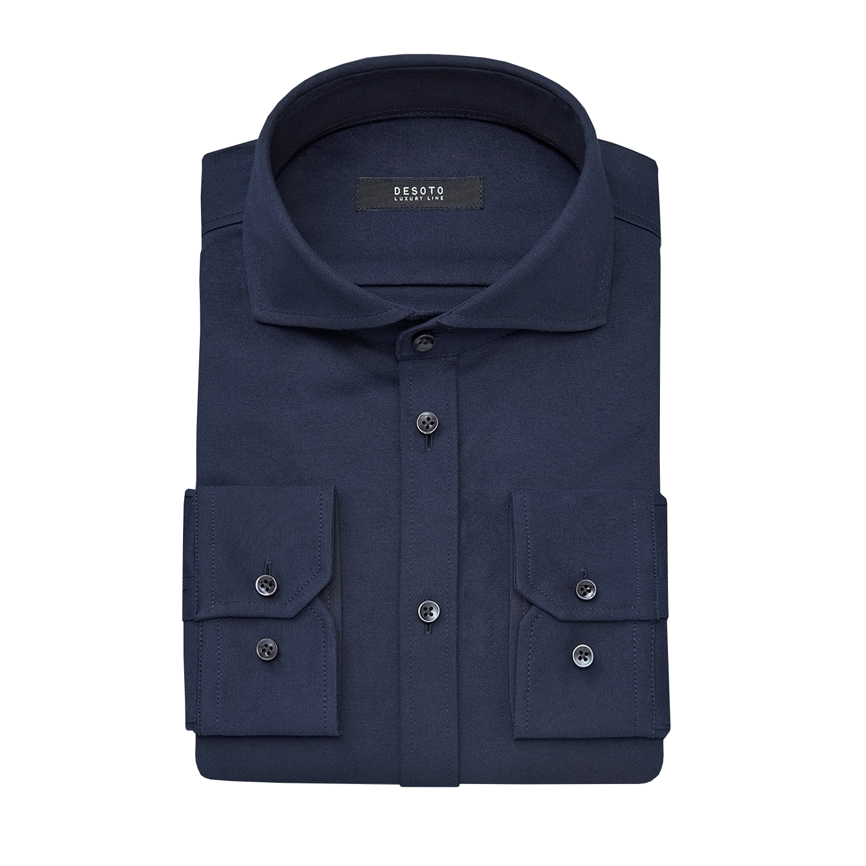 Desoto overhemd donkerblauw