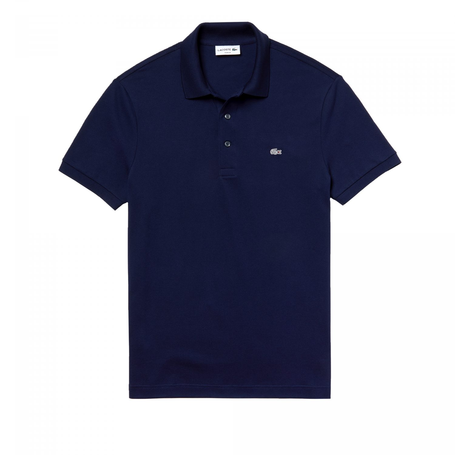 Lacoste polo donkerblauw zilver