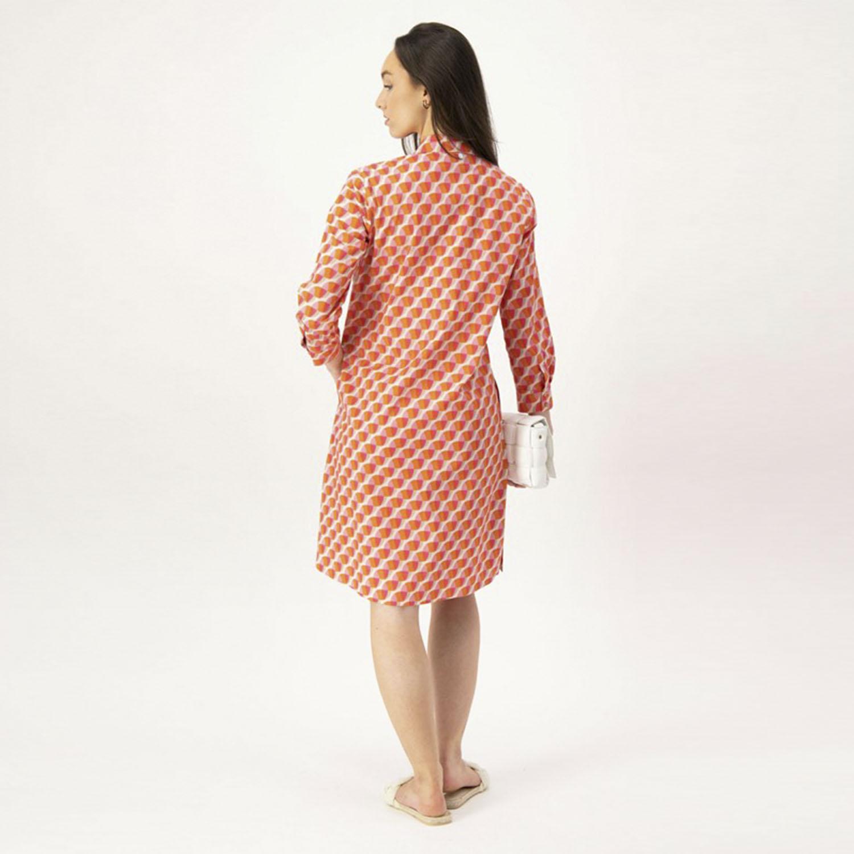 Louis & Mia jurk roze oranje achter