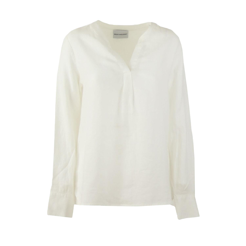 Herzen's linnen blouse wit