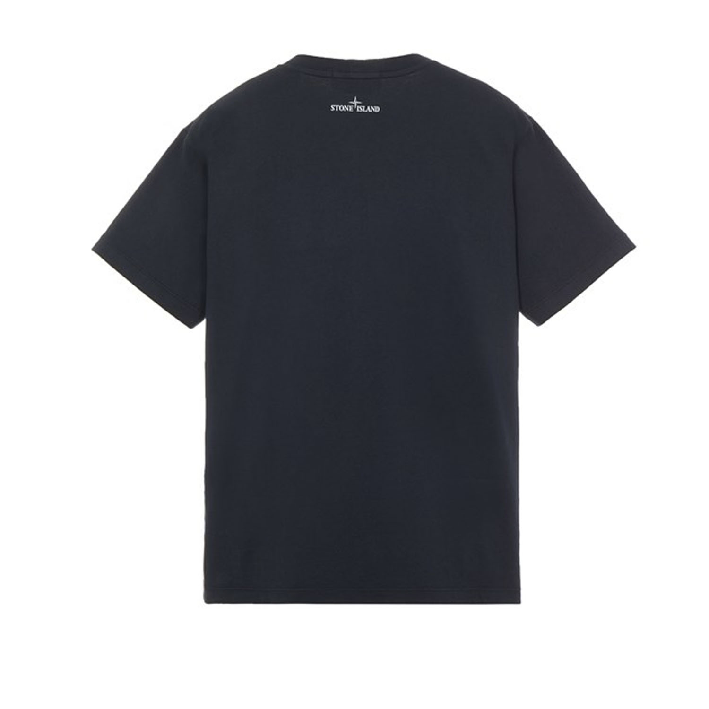 Stone Island t-shirt ns89 donkerblauw achter