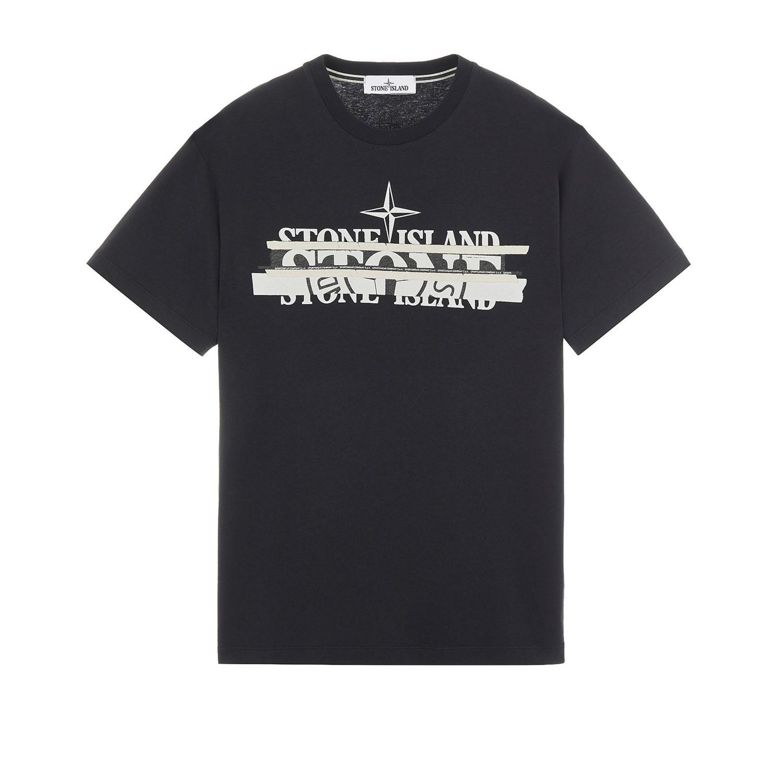 Stone island t-shirt 2ns82 zwart