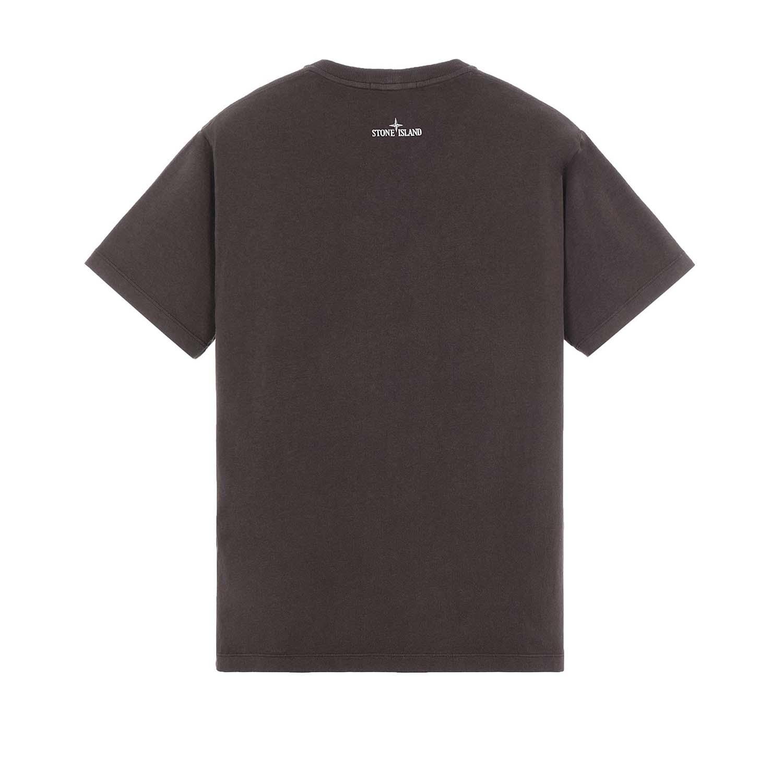 Stone Island t-shirt donkerbruin achter